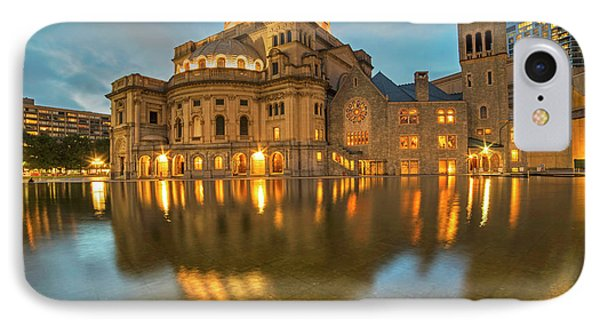 Boston Christian Science Building Reflecting Pool IPhone Case by Toby McGuire