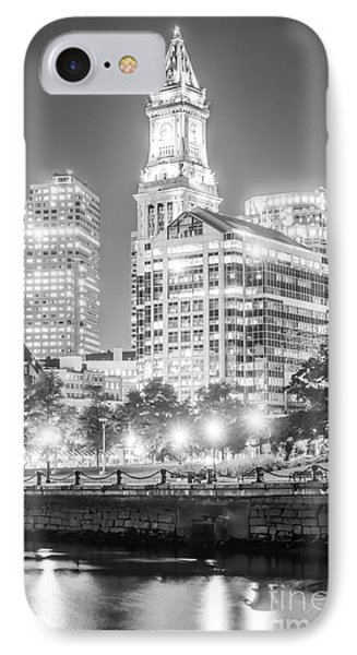Boston Cityscape Black And White Photo IPhone Case by Paul Velgos