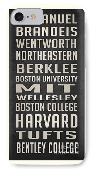 Boston Colleges Poster IPhone 7 Case by Edward Fielding