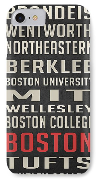 Boston Collegetown IPhone 7 Case by Edward Fielding