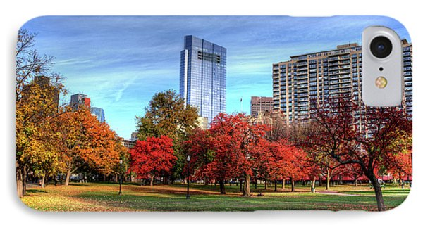 Boston Common Autumn Trees Boston Ma IPhone Case by Toby McGuire