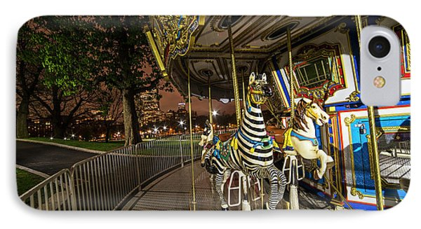 Boston Common Carousel Boston Ma IPhone Case by Toby McGuire