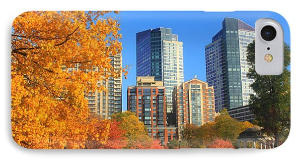 Boston Common In Autumn Phone Case by John Burk