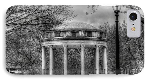 Boston Common Rotunda - Black And White Square IPhone Case by Joann Vitali