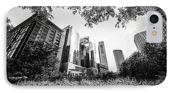 Boston Downtown City Buildings Through Trees IPhone Case by Paul Velgos