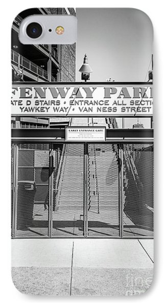 Boston Fenway Park Sign Black And White Photo IPhone Case