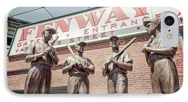 Boston Fenway Park Sign Gate B Statues IPhone Case by Paul Velgos