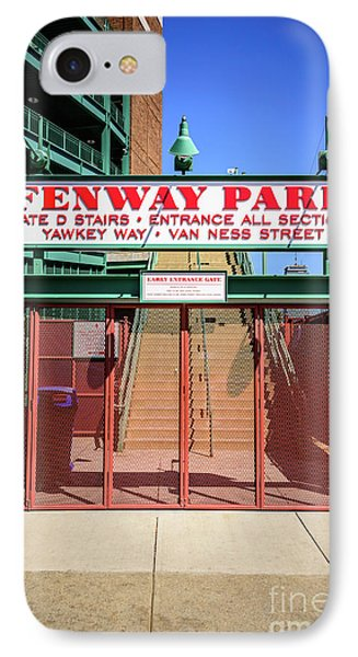 Boston Fenway Park Sign Gate D Entrance IPhone Case by Paul Velgos