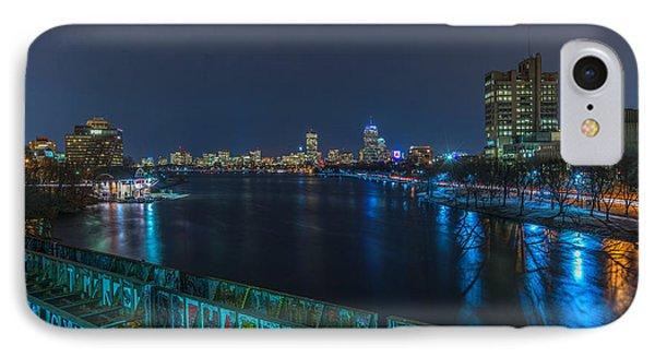 Boston From The Boston University Bridge IPhone Case by Bryan Xavier