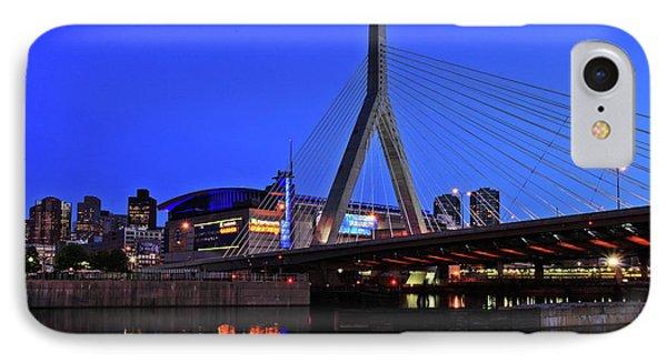 Boston Garden And Zakim Bridge Phone Case by Rick Berk