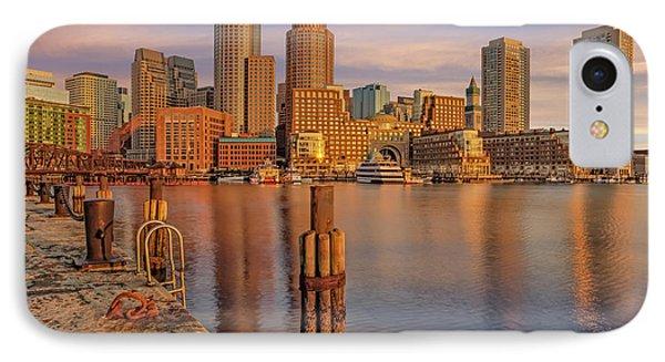 Boston Habor Sunrise IPhone Case by Susan Candelario
