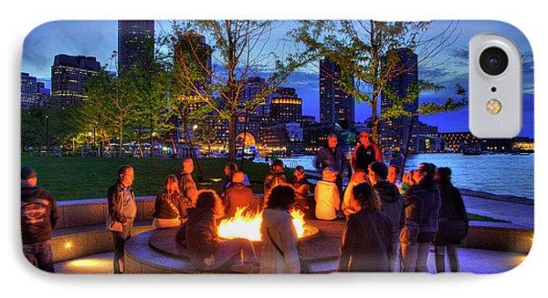 Boston Harbor Sunset Bonfire IPhone Case