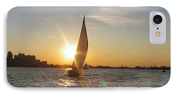 Boston Harbor Sunset IPhone Case by Laura Lee Zanghetti