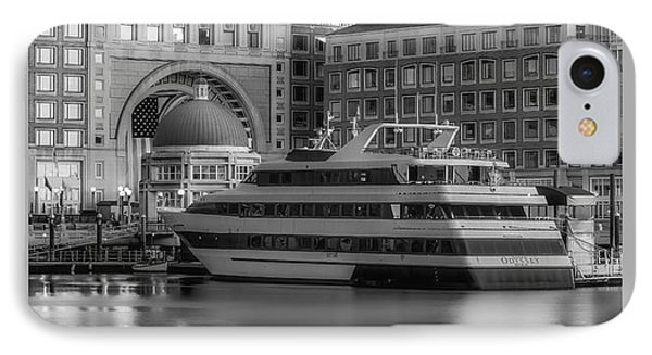Boston Harborwalk Daybreak Bw IPhone Case