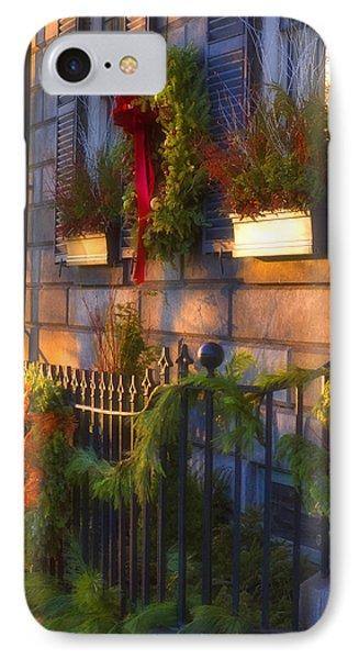 Boston Holiday Doorstep IPhone Case by Joann Vitali