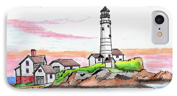 Boston Light IPhone Case by Paul Meinerth