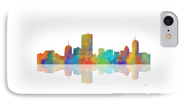 Boston Ma. Skyline IPhone Case by Marlene Watson