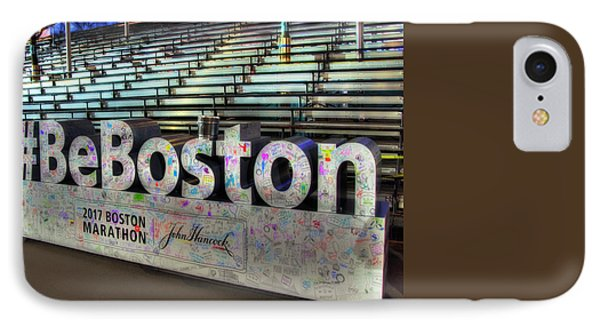 IPhone Case featuring the photograph Boston Marathon Sign by Joann Vitali