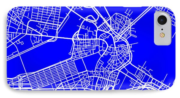 Boston Massachusetts City Map Streets Art Print   IPhone Case by Keith Webber Jr