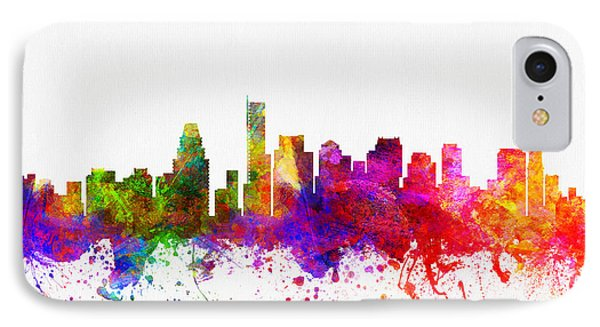 Boston Massachusetts Skyline Color02 IPhone Case by Aged Pixel