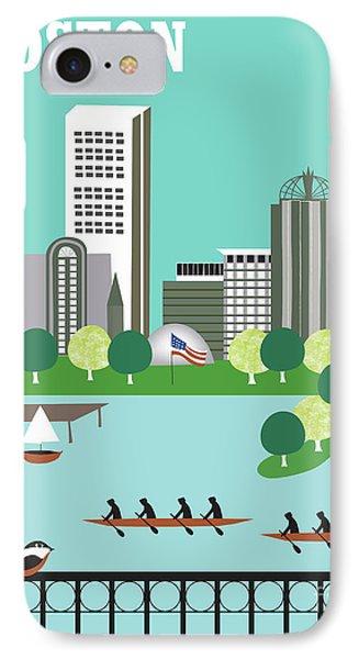 Boston Massachusetts Vertical Skyline IPhone Case