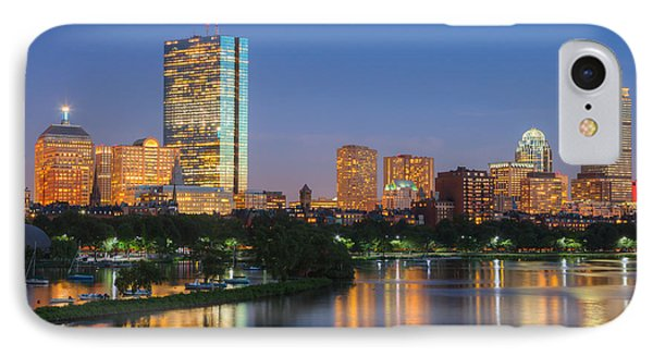 Boston Night Skyline II Phone Case by Clarence Holmes