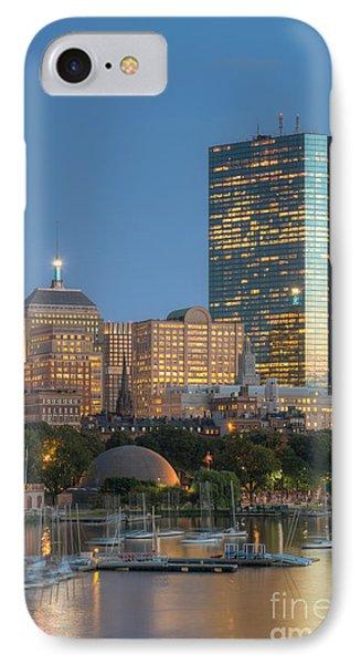 Boston Night Skyline Iv IPhone Case