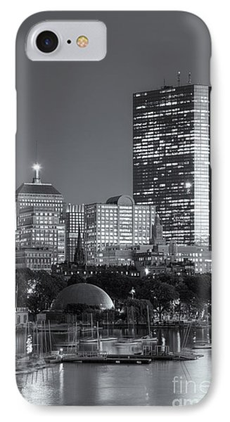 Boston Night Skyline Viii IPhone Case by Clarence Holmes