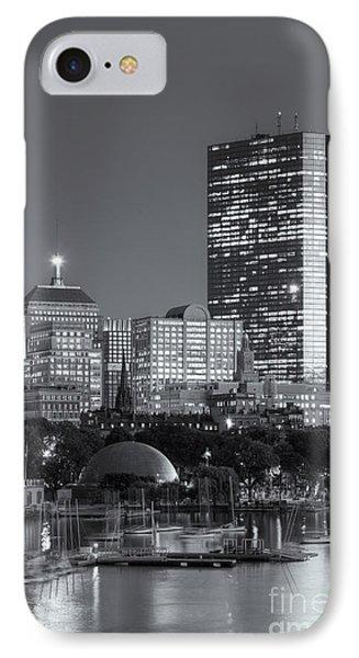 Boston Night Skyline Viii IPhone Case
