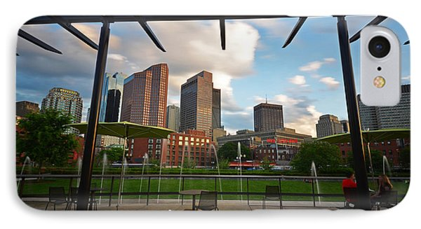 Boston North End Park Fountains IPhone Case by Toby McGuire