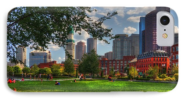 Boston North End Parks - Rose Kennedy Greenway IPhone Case by Joann Vitali