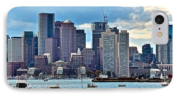 Boston Panorama IPhone Case by Frozen in Time Fine Art Photography