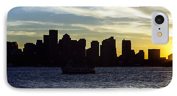 Boston Panoramic Skyline Sunset Picture IPhone Case by Paul Velgos