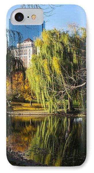 Boston Public Garden Autumn Hancock Skyline IPhone Case by Toby McGuire