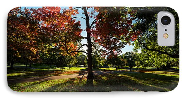 Boston Public Garden Autumn Tree Morning Light IPhone Case by Toby McGuire