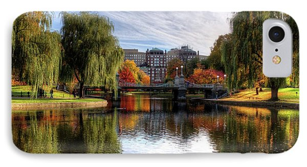 Boston Public Garden Autumn Trees Boston Ma IPhone Case by Toby McGuire