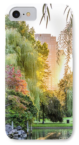 Boston Public Garden Sunrise IPhone Case by Mike Ste Marie