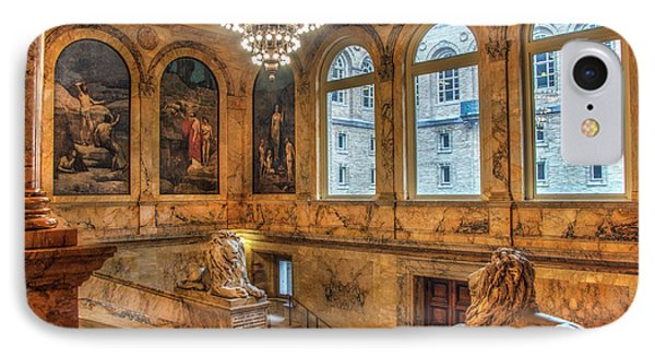IPhone Case featuring the photograph Boston Public Library Architecture by Joann Vitali