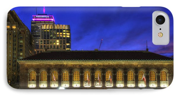 Boston Public Library At Night - Copley Square IPhone Case by Joann Vitali