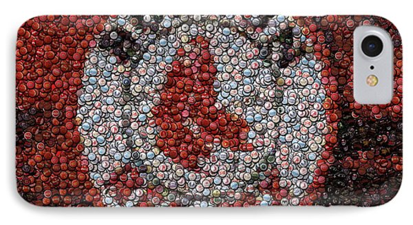 Boston Red Sox Bottle Cap Mosaic Phone Case by Paul Van Scott