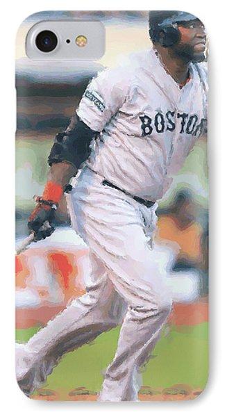 Boston Red Sox David Ortiz IPhone Case by Joe Hamilton