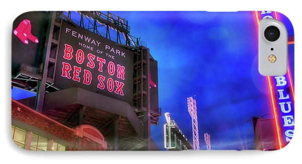 Boston Red Sox Fenway Park At Night  IPhone Case by Joann Vitali