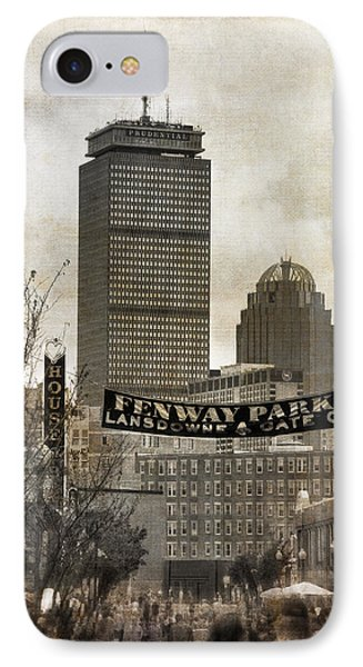 Boston Red Sox - Fenway Park - Lansdowne St. IPhone Case by Joann Vitali