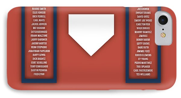 Boston Red Sox Art - Mlb Baseball Wall Print IPhone Case by Damon Gray