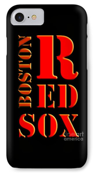 Boston Red Sox Original Typography Red And Black IPhone Case by Pablo Franchi