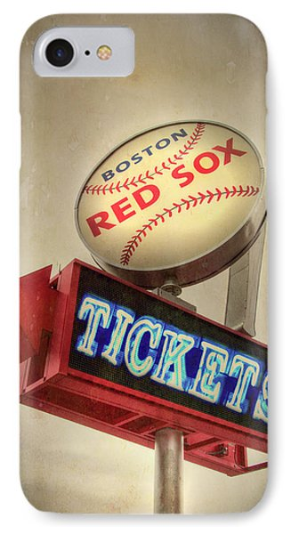Boston Red Sox Vintage Baseball Sign IPhone Case by Joann Vitali