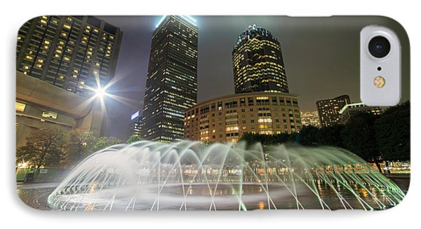 Boston Reflecting Pool Fountain Boston Ma IPhone Case by Toby McGuire