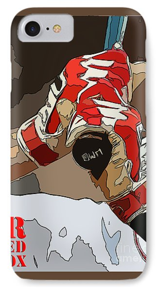Boston Rex Sox Bat IPhone Case by Pablo Franchi