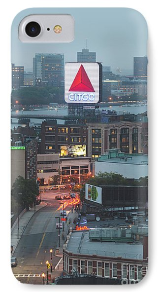 Boston Skyline Aerial Photo With Citgo Sign IPhone Case by Paul Velgos