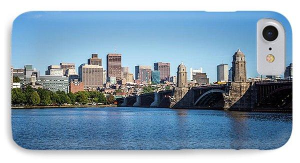 Boston Skyline And Longfellow Bridge Photo IPhone Case by Paul Velgos